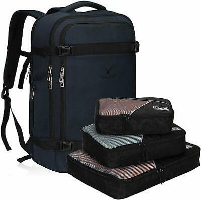 40L Travel Overnight Backpack Flight Approved Weekend Carry on 3PC Packing Cubes