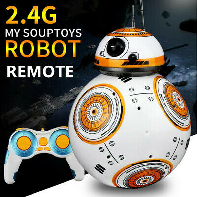BB-8 2.4GHz RC Robot Ball Remote Control Planet Boy with Sound Star Wars Toy hv