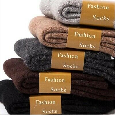 2pairs Wool Cashmere Comfortable Thick Socks Mens Winter Outdoor Sports Socks