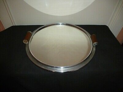 French Art Deco Modernist Cocktail Mirrored Tray