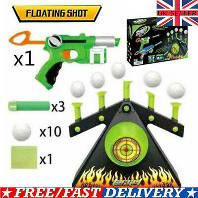 UK Electric Air Shot Hovering Ball Target Shooting Game Party Foam Dart Game