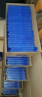 100 LOT NEW Official  OEM SONY Clear Blue Replacement Case for PS4 Playstation 4