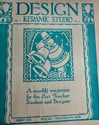 Vintage ART Magazines DESIGN KERAMIC STUDIO 1924 - 1930 LOT of 11