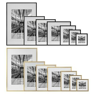 Cooper & Co Premium Metallicus Metal Photo Picture Frames Multi Size and Pack