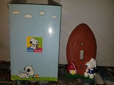 Peanuts Baby Snoopy & Woodstock Ceramic Light Switch Cover Plate