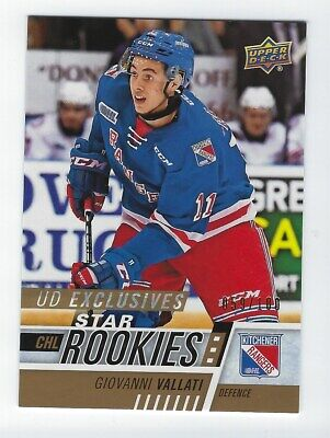 2017-18 Upper Deck CHL #305 Giovanni Vallati Star Rookies UD Exclusives 059/100