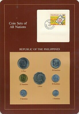 Philippines Coin Sets of All Nations 7 UNC /  BU Coins 1983 & 1984
