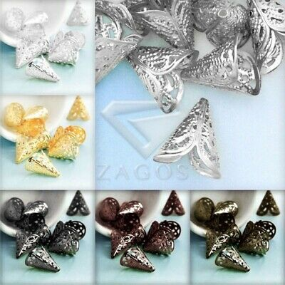 20g DIY Crimp End Spacer Perles Bouchons Charm Findings Caps Bijoux 17x15x11mmSA