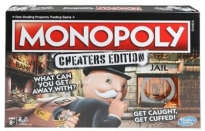 Monopoly Cheaters Edition Board Game Hasbro New and Sealed Free Shipping!!!!!