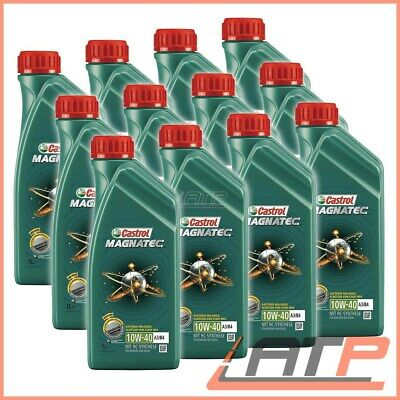 12 Litre Castrol Magnatec 10W-40 A3/B4 Engine-Oil Vw 502 00/505 00