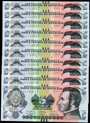 HONDURAS 50 LEMPIRAS 2014 P NEW BLIND MARK UNC