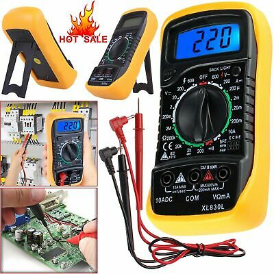 Digital LCD Multimeter Voltmeter Ammeter AC/DC OHM Circuit Tester Checker Buzzer