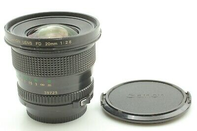 [ Excellent++++] Canon New FD 20mm F2.8 NFD Wide Angle MF Lens from Japan #0041