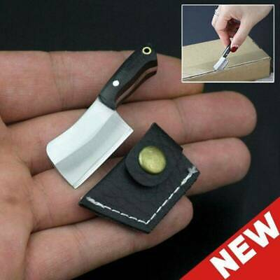 Small Mini Stainless Steel Folding Pocket Knife Keychain Blade Outdoor Survival❤
