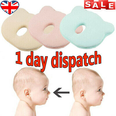 ✔Baby Cot Pillow Newborn Infant Anti Flat Head Cushion for Crib Bed Neck Support