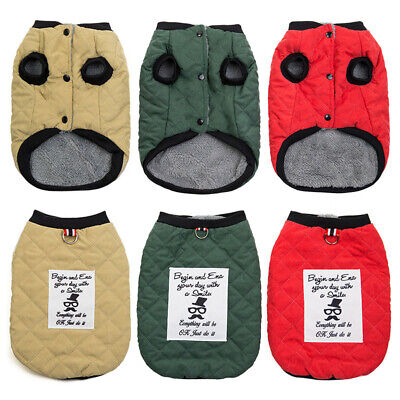 Pet Dog Soft Warm Clothes Sweater Winter Puppy Chihuahua Fleece Vest Jacket Coat