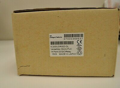 GE VersaMax Micro PLC 14 Point DC/DC/Relay IC200UDR002. New Surplus in Open Box