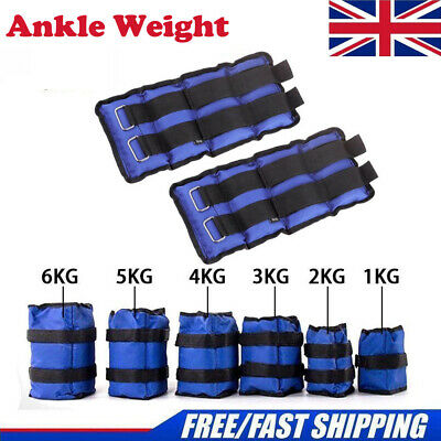 Ankle Weights Adjustable Leg Wrist Strap Running Boxing Braclets Straps Gym UK