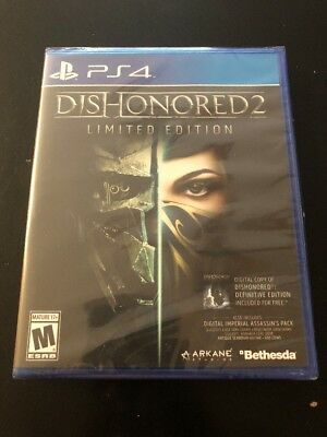 Dishonored 2: Limited Edition (Sony PlayStation 4) Brand New PS4 Game Free Ship