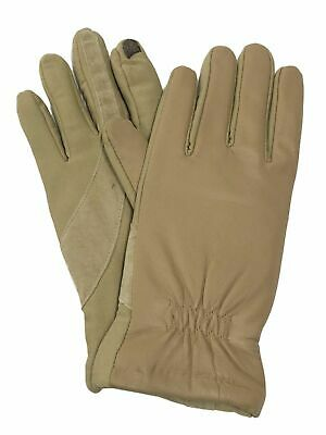 Isotoner Smart Touch Womens Camel Tan Leather Touchscreen Tech & Text Gloves XL