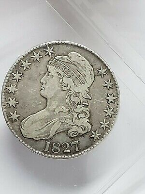 1827 Capped Bust Half Dollar Us Mint Silver Coin