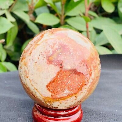 347g Natural Polychrome Ocean Jasper Polished Ball Healing B418