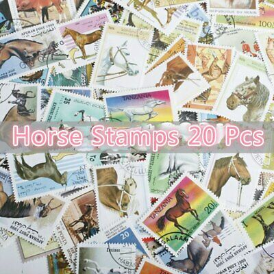 20Pcs/Lot World Horse Stamps All Different From Many Countries NO Repeat Marked