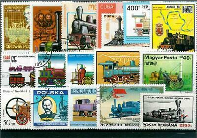 50Pcs/Lot Vintage Old Train Stamps All Different From Many Countries NO Repeat U