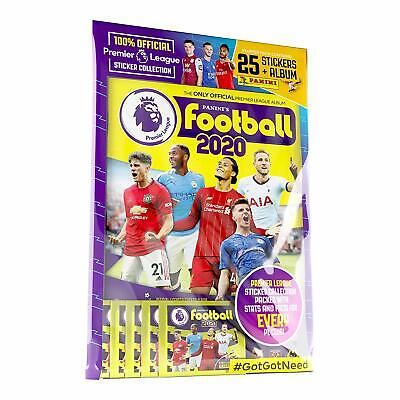 Panini Football 2020 Premier League Sticker Starter Pack Album With 25 Stickers