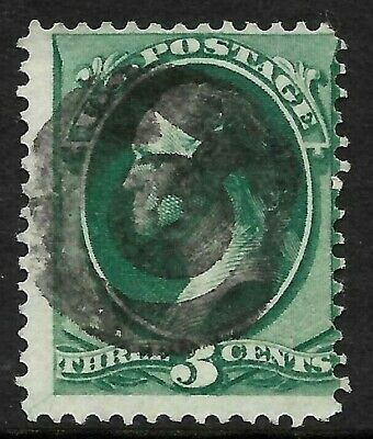 """Fancy Cancel """"Nice Letter C"""" SON 3 Cent Green Banknote 1871-83 US 2B42"""