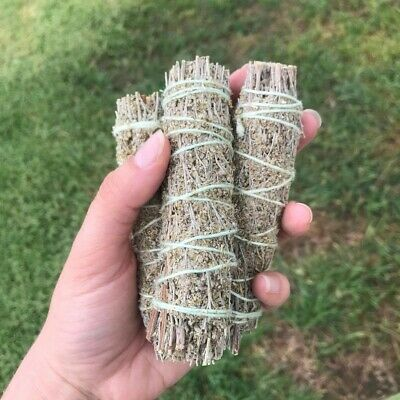 Blue Sage Smudge Stick: 3 Wand Pack! (Herb, House Cleansing Negativity Removal)