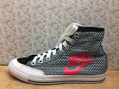 NIKE WOMENS GIRLS MULTICOURED  HIGH TOP SPORTS TRAINERS SIZE UK 5.5 EU 38.5 24cm