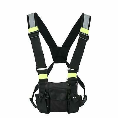 Radio Chest Harness Bag Chest Front Pocket Pack Holster for Two Way Walkie Talki
