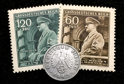 Authentic Rare Old WWII German 1 Cent Coin Military Army Collection & Stamps