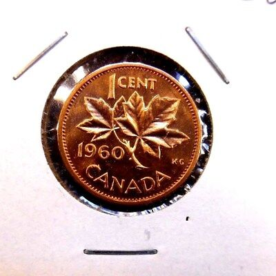 1960  Canada  Canadian Small  Cents  one cent  Penny Coin  BU  Free Shipping