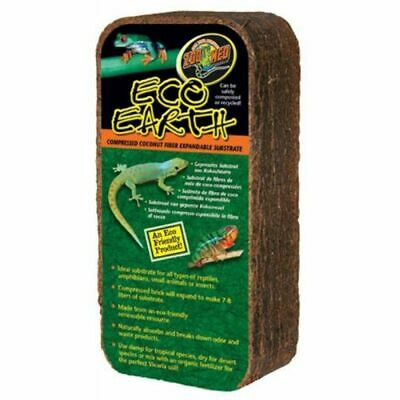 LM Zoo Med Eco Earth Compressed Coconut Fiber Expandable Substrate 1 Pack (Makes