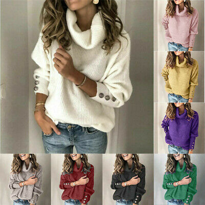 Women's US Tops Long Knitted Cardigans Knitwear Sleeve Autumn Jumper Sweater