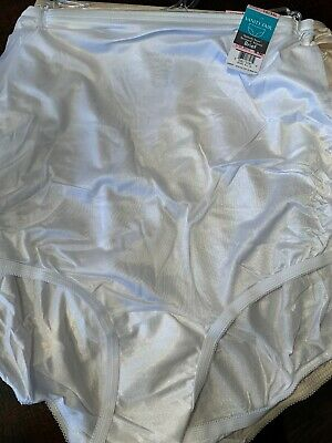 Woman's Vanity Fair Perfectly Yours Ravissant Tailored Brief Size 10/3XL White
