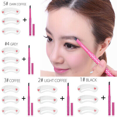 Longlasting Makeup Set Cosmestic Tools Eye Liner Stencil Eyebrow Pencil