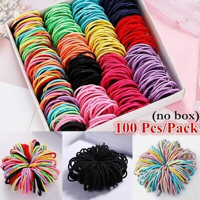 100Pcs Elastic Rope Hair Ties Hairbands Hairwear Women Girls Hair Accessories