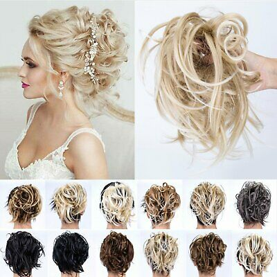 UK Messy Bun Ponytail Hair Scrunchie Tousled Hair Piece Extensions Real As Human
