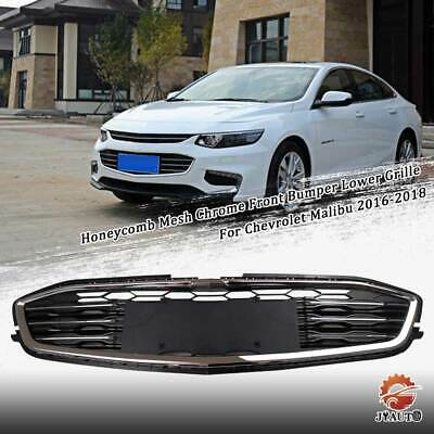 Honeycomb Mesh Chrome Front Bumper Lower Grille For Chevrolet Malibu 2016-2018