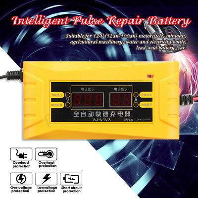 Intelligent Battery Charger Pulse Repair 12V  For Car Motorcycle Wet Lead Acid