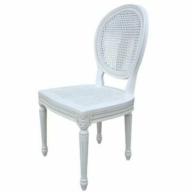 French Style Shabby Chic Chateau Louis Carved Classic Rattan Dining Chair SALE!