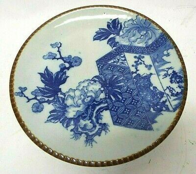 BEAUTIFUL OLD Antique ASIAN CHINESE Imari CHARGER PLATTER Blue Porcelain