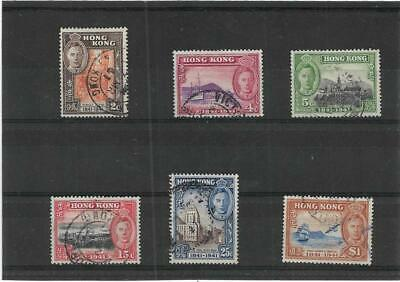 Hong Kong 1941 Centenary Of British Occupation Set Sg.163-168 Fine Used