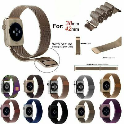 Magnetic Loop Milanese Wrist Band Strap For Apple Watch Series1-5 Fit 150mm-220m