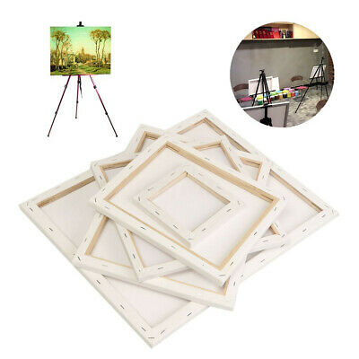 White ARTIST Blank Stretched Canvas Board Wood Frame For Art Oil Acrylic Paint