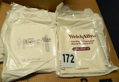 (7 PK)  Welch Allyn FlexiPort Disposable Blood Pressure Cuffs Adult L  Soft-12