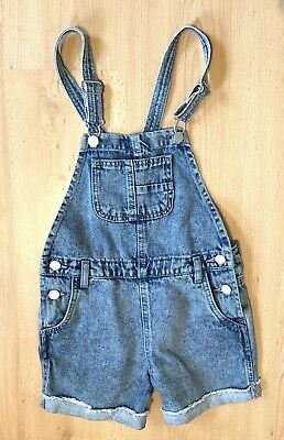 Next Girls Playsuit Age 8 Denim Summer Holiday Shorts All in 1 Casual Dungarees
